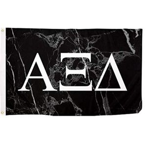 Alpha Xi Delta Black Marble Flag